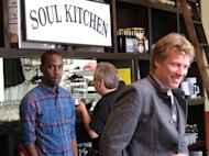 Jon Bon Jovi, shown here on Oct. 19, 2011 at a charity restaurant he opened in Red Bank N.J., will close the Bamboozle Festival with his self-titled band on May 20. The three-day festival in Asbury Park N.J. is being billed as the largest beach concert in the United States this year. (AP Photo/Wayne Parry)