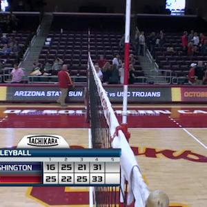 Recap: USC women's volleyball wins four-set thriller over Washington