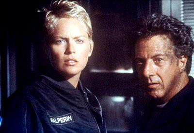 Sharon Stone and Dustin Hoffman in Sphere
