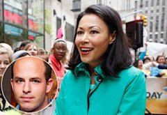 Brian Stelter (inset); Ann Curry | Photo Credits: Michael Stewart/WireImage/Getty; Peter Kramer/NBC