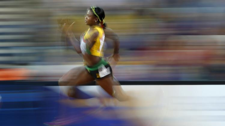 McLaughlin of Jamaica runs during her women's 200 metres heat at the 2014 Commonwealth Games in Glasgow