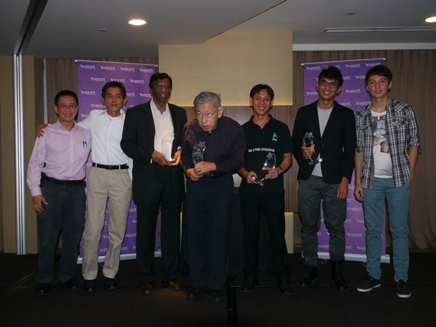 Some of the nominees and winners of the inaugural Yahoo! Singapore 9. (Yahoo! photo/Jeanette Tan)