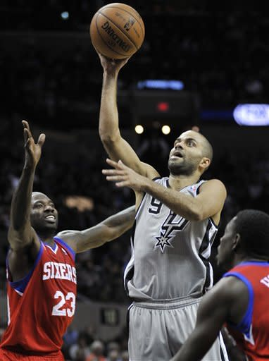 Spurs too much for 76ers, 109-86