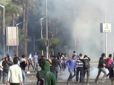 Raw: Students Clash With Police in Egypt