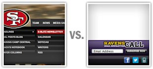 The 49ers vs. The Ravens: Who Wins The Email Super Bowl? image firstquarter