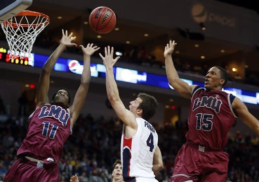 No. 1 Gonzaga beats LMU 66-48 to reach WCC final