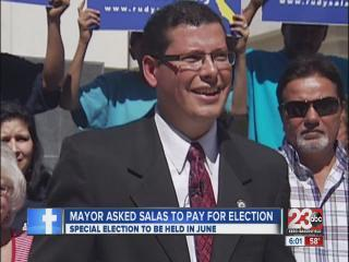 Mayor Hall asked Salas to help pay for special election in June
