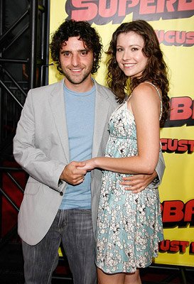 David Krumholtz and guest at the Los Angeles premiere of Columbia Pictures' Superbad