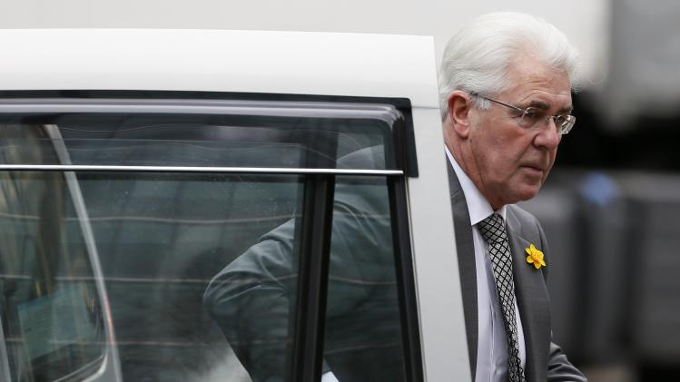 Publicist Max Clifford arrives at Southwark Crown Court in central London