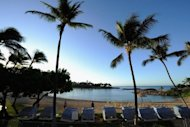 File photo from 2011 of Ko Olina beach in Hawaii. A tsunami generated by an earthquake in Canada hit the US state of Hawaii late Saturday, an official from the Pacific Tsunami Warning Center announced late Saturday