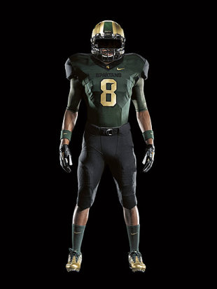 MSU uniforms provided by Nike (Detroit News courtesy of Nike)