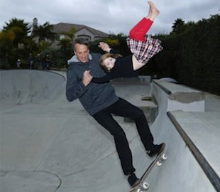 Tony Hawk skates with daughter Kadence in his backyard skate park &#x002014; Instagram