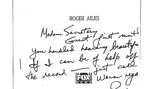 Fox News Boss Roger Ailes Offered the Bush Administration 'Help Off the Record'