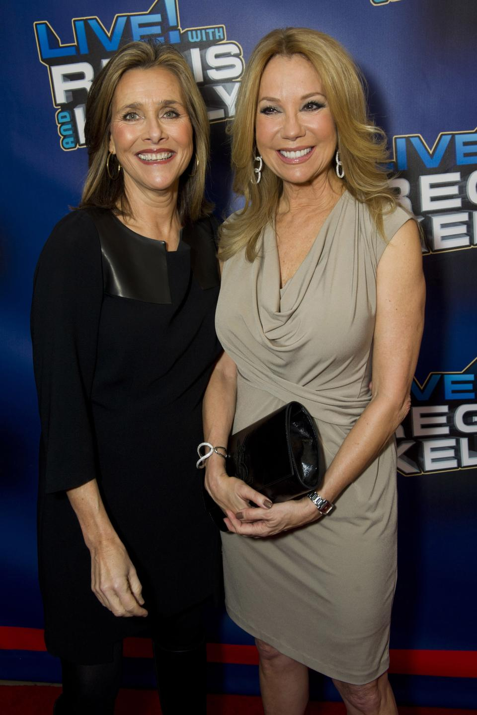 "Meredith Vieira, left, and Kathie Lee Gifford arrive for Regis' farewell episode of ""Live! with Regis and Kelly"", in New York, Friday, Nov. 18, 2011. (AP Photo/Charles Sykes)"