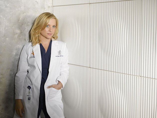 Jessica Capshaw in the ABC series Grey's Anatomy