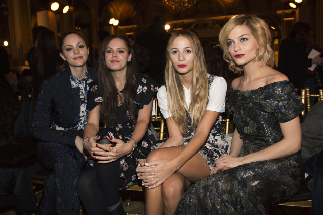 Katharine McPhee, Atlanta de Cadenet-Taylor, Harley Viera-Newton and Leigh Lezark attend the presentation of the Zac Posen Autumn/Winter 2013 collection during New York Fashion Week