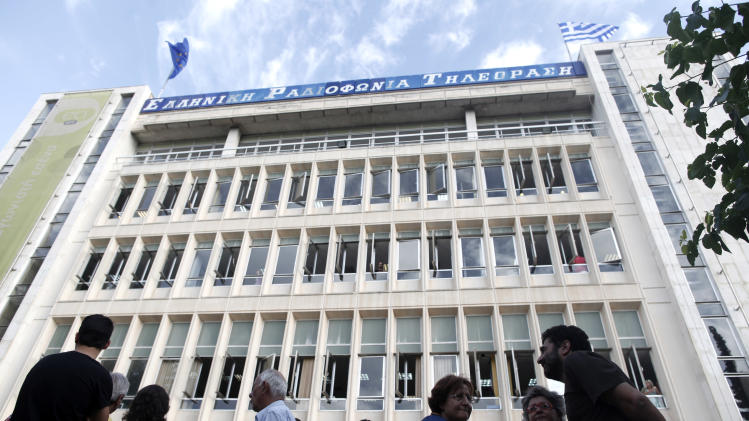 Greek state TV, radio broadcasts go off the air