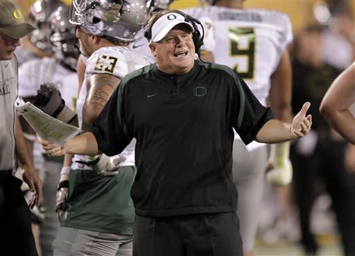 No. 2 Oregon runs over Arizona State 43-21