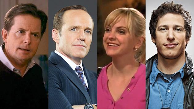 """Michael J. Fox in """"The Michael J. Fox Show,"""" Clark Gregg in """"Marvel's Agents of S.H.I.E.L.D.,"""" Anna Faris in """"Mom,"""" and Andy Samberg in """"Brooklyn Nine-Nine."""""""