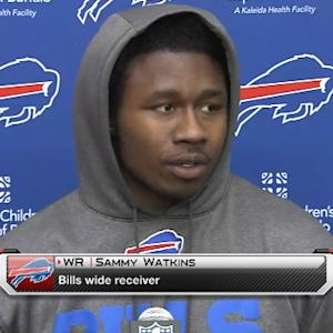 Buffalo Bills wide receiver Sammy Watkins: Quarterback EJ Manuel is 'throwing the ball better'