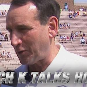 Coach K Talks Team USA & Duke Football Team's 4-0 Start