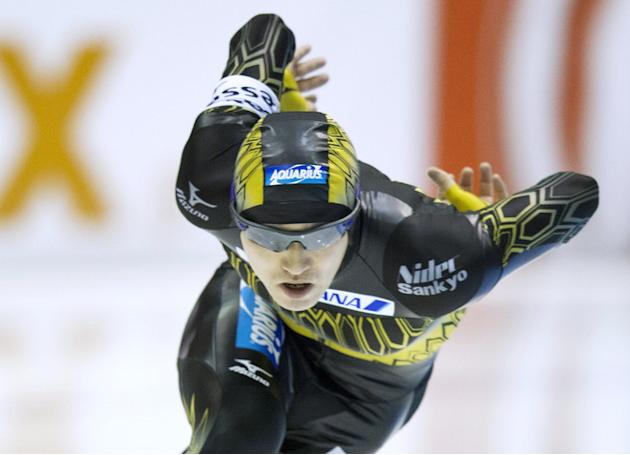 Japan's Keiichiro Nagashima  Competes The 500 M Race  AFP PHOTO / ANP / JERRY LAMPEN ---netherlands Out --- AFP/Getty Images