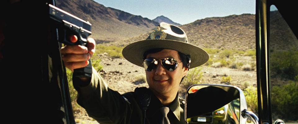 "This undated publicity film image released by courtesy Warner Bros. Pictures shows Ken Jeong, as Mr. Chow, in a scene in Warner Bros. Pictures' and Legendary Pictures', ""The Hangover Part III."" (AP Photo/Warner Bros. Pictures/Legendary Pictures)"