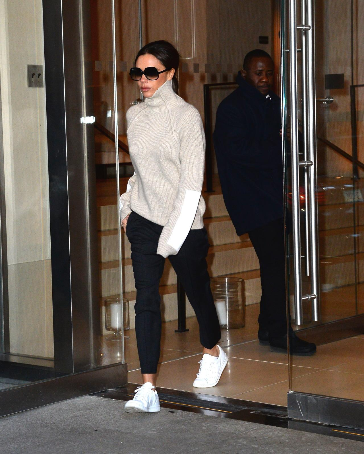 Victoria Beckham Exposes Her Ankles in NYC's Single-Digit Temperatures