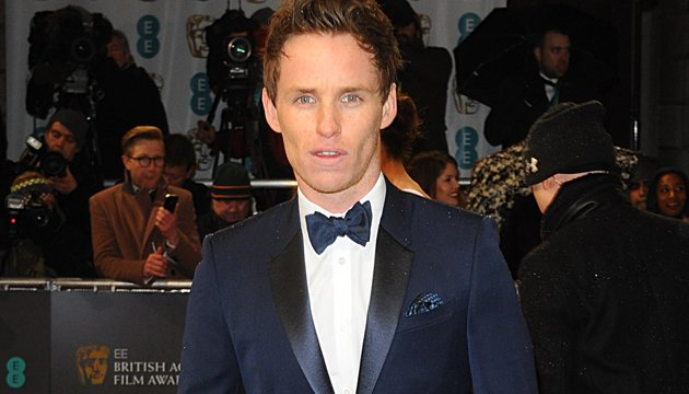 Green around the gills... Redmayne on BAFTA red carpet (Credit: PA)