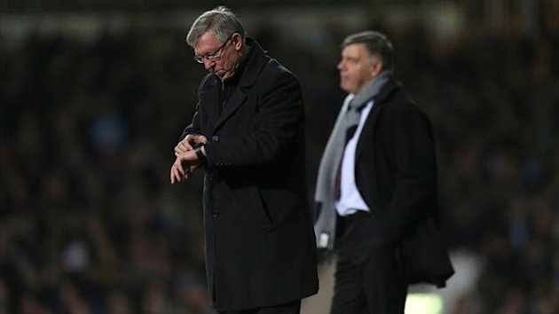 A late show from Alex Ferguson&#39;s, left, Manchester United sealed a replay