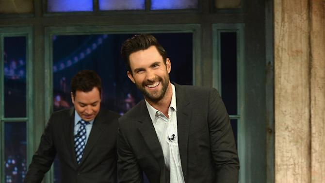 "Adam Levine Visits ""Late Night With Jimmy Fallon"""
