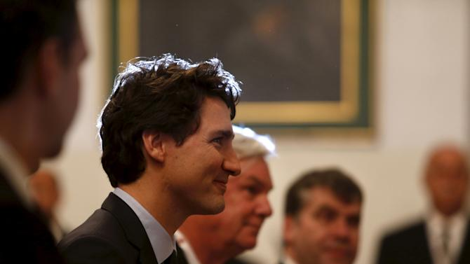 Canada's Prime Minister Trudeau holds talks with Malta's Prime Minister Muscat at the Auberge de Castille in Valletta