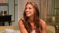 Olympic soccer star Alex Morgan stops by Access Hollywood Live on August 28, 2012 -- Access Hollywood