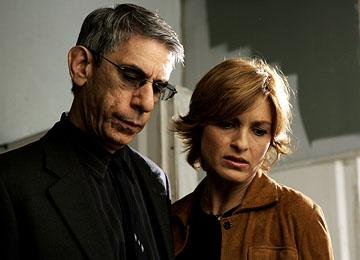 "Richard Belzer as Detective Munch and Mariska Hargitay as Detective Olivia Benson NBC's""Law and Order: Special Victims Unit"" <a href=""/baselineshow/4728792"">Law & Order: Special Victims Unit</a>"