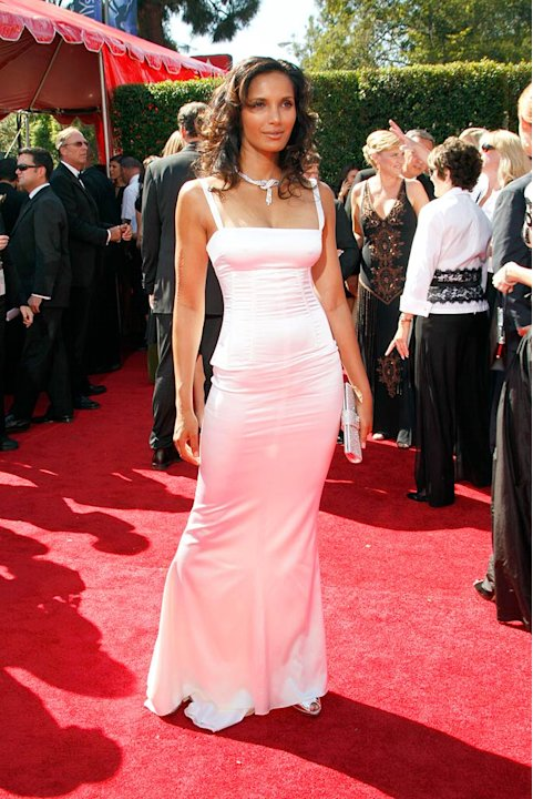 Padma Lakshmi arrives at the 59th Annual Primetime Emmy Awards at the Shrine Auditorium on September 16, 2007 in Los Angeles, California.