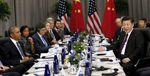 U.S. President Obama meets with Chinese President Xi …