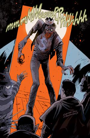 "This image released by Archie Comics shows the character Jughead from""Afterlife With Archie,"" a series debuting Wednesday, Oct. 9. The series written by Roberto Aguirre-Sacasa and illustrated by Francesco Francavilla sees Archie, Betty, Jughead, Veronica and others, including Sabrina the Teenage Witch, enveloped in apanoply of incantations, elder gods, the undead and zombies, too. (AP Photo/Archie Comics)"