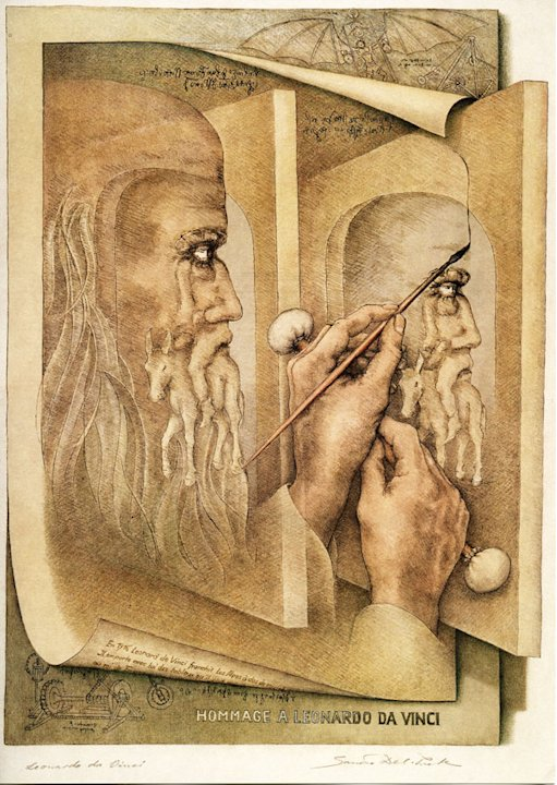 &amp;#39;Leonardo da Vinci&amp;#39; by Sandro Del-Prete