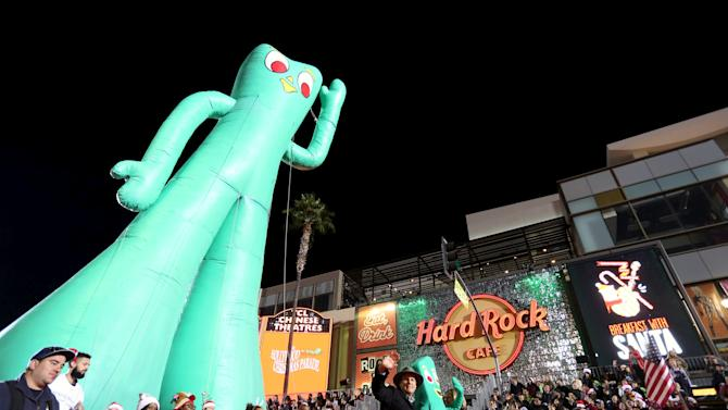 Gumby characters participate in the 84th Annual Hollywood Christmas Parade in the Hollywood section of Los Angeles, California.