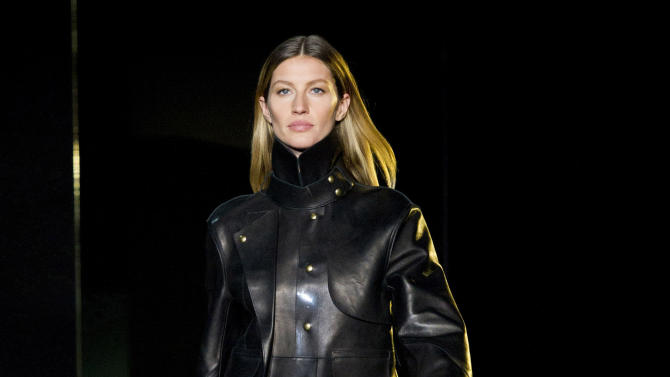 FILE - This Feb. 11, 2012 file photo shows model Gisele Bundchen walking the runway in the Alexander Wang show during Fashion Week in New York. Wang's show has become must-see viewing, partly for influential hipster clothes, but also for the model line-up, a who's who of top catwalkers. It was a coup even for him, however, to get the likes of Gisele Bundchen, Carmen Kass, Frankie Rayder and Shalom Harlow, who all very rarely do shows, to walk in February. (AP Photo/Charles Sykes, file)