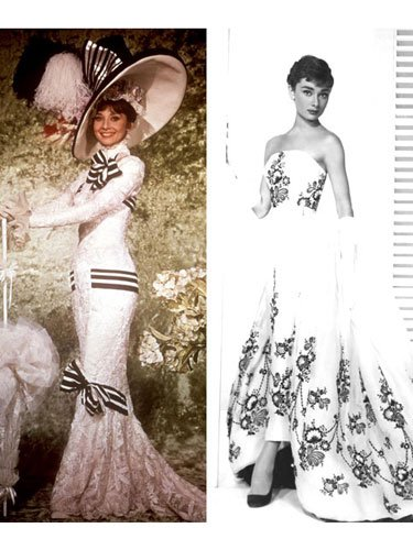 Audrey Hepburn, tie: Sabrina and My Fair Lady