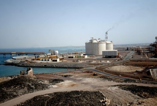 Tthe Balhaf liquefied natural gas plant on the Gulf of Aden in Yemen in 2010. An explosion on Tuesday targeted a gas well in the Marib province of Yemen, an engineer at the site told AFP, stressing that a pipeline feeding gas into Balhaf southern export terminal was not hit, as a local official had announced earlier