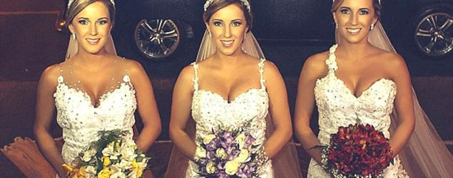 Identical triplets tie the knot on the same day
