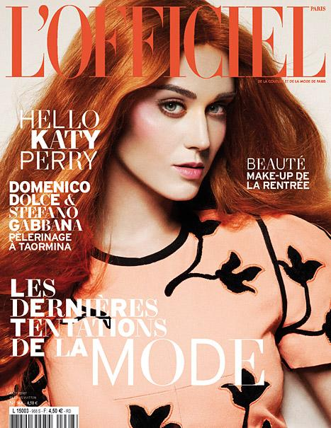Katy Perry Looks Unrecognizable in Orange Wig on L'Officiel Cover