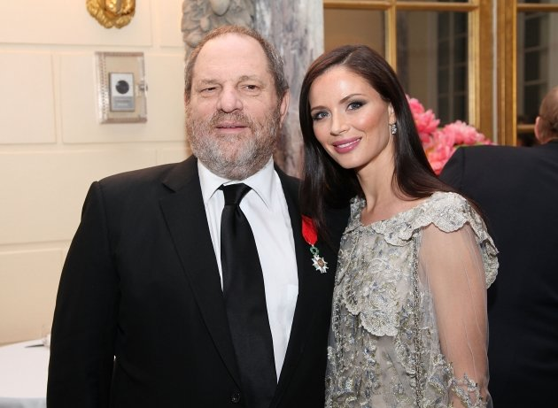 Harvey Weinstein and Georgina Chapman attend a reception for the screening of &#39;The Intouchables&#39; at the French Embassy in New York City on April 30, 2012  -- Getty Premium