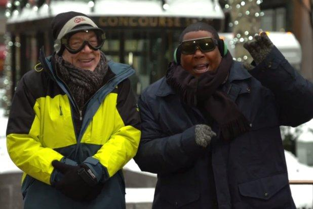 Oscar-Nominee J.K. Simmons Braves Snowpocalypse to Film 'SNL' Promos (Video)