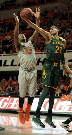 Heslip leads Baylor past No. 8 Oklahoma St