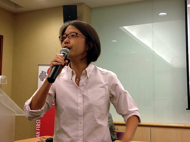 AWARE executive director Corinna Lim says Singapore's reliance on unskilled foreign labour must end eventually. (Yahoo! photo)