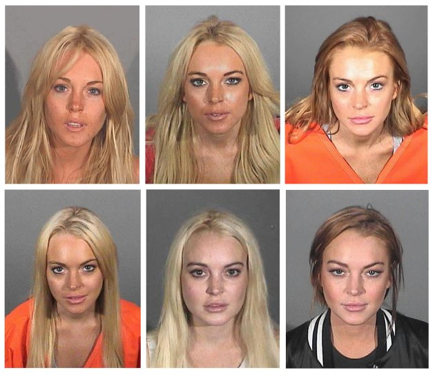 Actress Lindsay Lohan booking photos