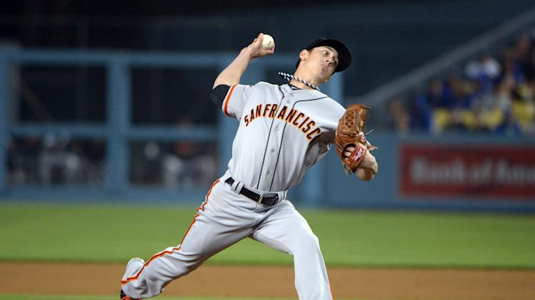 MLB: San Francisco Giants at Los Angeles Dodgers